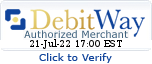 DebitWay Authorized Merchant. Click To Verify.